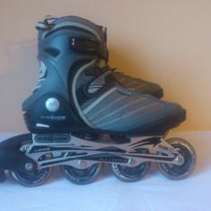 Role B-Square Skating, marimea 41, Unisex, Silicon, Gri