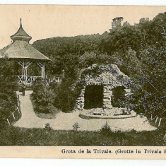 1497 - Arges, PITESTI, grota de la Trivale - old postcard - used - 1917 - Carte Postala Muntenia 1904-1918, Circulata, Printata