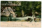 174 - Banat, HERCULANE, Trellis bridge - old postcard - used - 1904