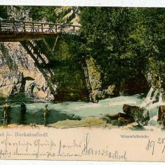 174 - Banat, HERCULANE, Trellis bridge - old postcard - used - 1904 - Carte Postala Banat pana la 1904, Circulata, Printata