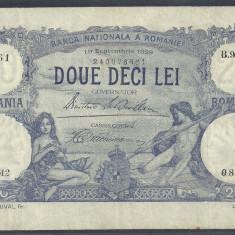 ROMANIA 20 LEI 19 septembrie 1929 [1] VF+ - Bancnota romaneasca