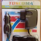 Incarcator universal tableta, camera foto si telefon 10 in 1, De priza si masina
