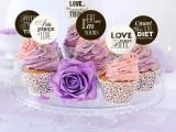 Decoratiuni candy bar ''SWEET LOVE'', 6buc/set