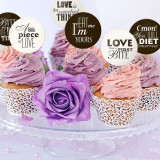 Decoratiuni candy bar ''SWEET LOVE'', 6buc/set