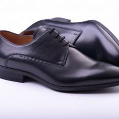 Pantofi Derby Clasic - Pantof barbat, Marime: 40, 41, 42, 43, 44, 45, Culoare: Maro, Piele naturala, Casual