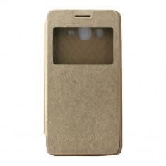 Toc My-Wow Samsung Galaxy Grand Prime G530 Auriu - Husa Telefon Atlas, Piele Ecologica