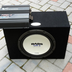 ALPINE amplificator si bass 30cm--set original-- - Pachete car audio auto
