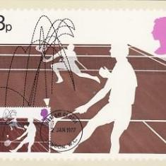 1858 - Anglia 1977 - carte maxima