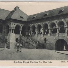 RESEDINTA REGALA ROMANA DIN ALBA IULIA - Carte Postala Transilvania dupa 1918, Necirculata, Printata