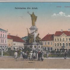 SALUTAREA DIN ARAD, CIRCULATA OCT. 1920 - Carte Postala Crisana dupa 1918, Printata