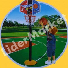 Cos baschet cu picior, minge si pompa pentru umflat 1.15m