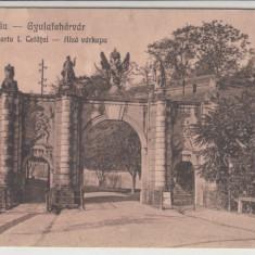 ALBA IULIA, POARTA I. CETATEI - Carte Postala Transilvania dupa 1918, Necirculata, Printata