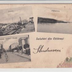 CALARASI SALUTARI DIN CALARASI PORTUL STR.STIRBEI VODA PADURICEA CIRC.MAR*902 - Carte Postala Oltenia pana la 1904, Circulata, Printata