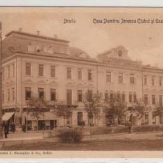 BRAILA, CASA DUMITRU IONESCU, CLUBUL SI TEATRUL REGAL, CIRCULATA - Carte Postala Muntenia 1904-1918, Printata