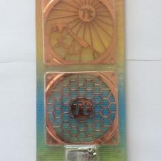 Grilaj ventilator cooler procesor CPU Thermaltake 80mm Dual-Pack Cupru / A1457 - Cooler PC Thermaltake, Pentru procesoare