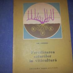 FERTILIZAREA SOLURILOR IN VITICULTURA ~ GH. CONDEI - Carti Agronomie