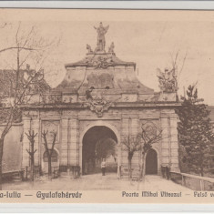 ALBA IULIA, POARTA MIHAI VITEAZUL - Carte Postala Transilvania dupa 1918, Necirculata, Printata
