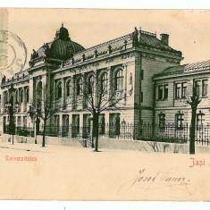 2846 - IASI, University - old postcard - used - 1904 - TCV - Carte Postala Moldova pana la 1904, Circulata, Printata