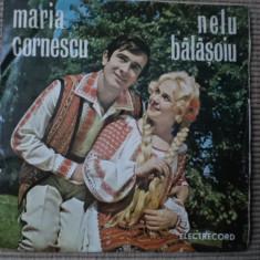 MARIA CORNESCU NELU BALASOIU DISC SINGLE VINYL MUZICA POPULARA ELECTRECORD, VINIL