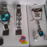 Set ceas cu bijuterii dama- NY LONDON - Diamond Collection -5 piese (cod:836) - Ceas dama, Casual, Quartz, Inox, Analog