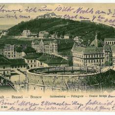2839 - BRASOV, dealul Strajii - old postcard - used - 1903 - Carte Postala Transilvania pana la 1904, Circulata, Printata