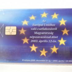 Cartela telefon Ungaria -plastic- 6445/0