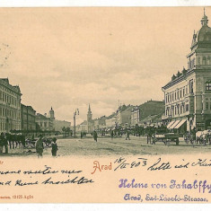 2855 - ARAD - old postcard - used - 1903 - Carte Postala Banat pana la 1904, Circulata, Printata