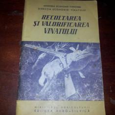 RECOLTAREA SI VALORIFICAREA VANATULUI - BUCURESTI - 1960 - Carte Zoologie