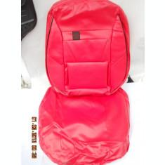 Huse scaune auto imitatie piele rosie complet