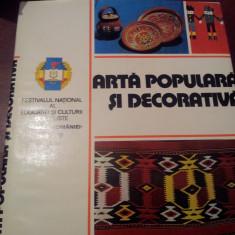 ARTA POPULARA SI DECORATIVA - Carte Arta populara
