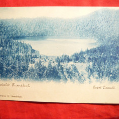 Ilustrata clasica - Lacul Sf. Ana, cca.1900 - Carte Postala Transilvania pana la 1904, Necirculata, Printata