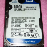 WESTERN DIGITAL 500 GB - Sorpio Blue WD5000BEVT - HDD laptop Western Digital, 300-499 GB, Rotatii: 5400, SATA 3