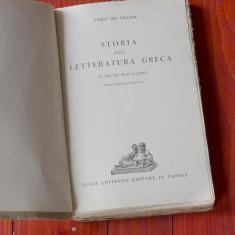 Carte L Italiana - Carlo de l Grande / Storia della letteratura greaca - 1939 !! - Carte in italiana