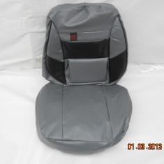 Huse scaune auto imitatie gri cu negru