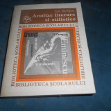 ION ROTARU - ANALIZE LITERARE SI STILISTICE - Roman