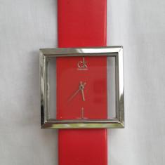 Ceas Calvin Klein - curea din piele - capac inox - Ceas dama