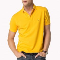Tricou Polo TOMMY HILFIGER - Tricouri Barbati - 100% AUTENTIC - Tricou barbati Tommy Hilfiger, Marime: M, L, Culoare: Galben, Maneca scurta, Bumbac