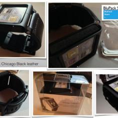Curea iPod nano 6TH generation iWatch Chicago Collection Negru Lunatik piele, Altele