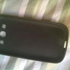 + Husa noua neagra din silcon pentru Samsung S3 I9300 + - Husa Telefon Samsung, Negru, Vinyl