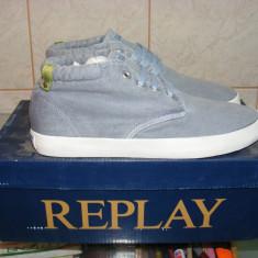 Tenisi Replay Irons Chukka Shoes din panza marimea 41 - Tenisi barbati Replay, Culoare: Albastru, Textil
