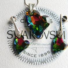 Set pandantiv si cercei cu cristale Swarovski - Set Swarovski