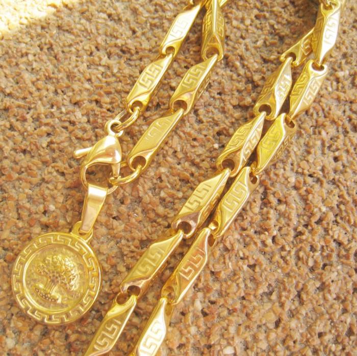 *50 ron*  Lant +medalion  INOX Meandros