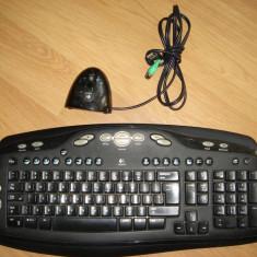Kit tastatura si mouse fara fir LOGITECH USB, negru
