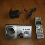 Telefon fix PANASONIC digital, mesagerie vocala, serviciu SMS, 50 memorii, 300m