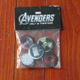 insigna - lot sigilat de 6 insigne Marvel Avengers ( 0nly in theaters ) !!!!