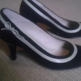 pantof dama negru piele intoarsa nr 37