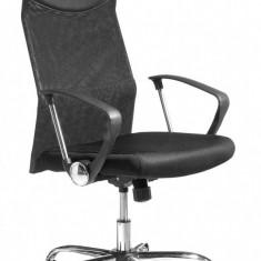 Scaun de birou directorial ergonomic / fotoliu directorial, nou, in cutie - Scaun birou, Mesh+piele ecologica, Negru