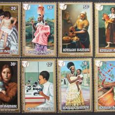 RWANDA 1975 - PICTURA FEMEI 8 VALORI, NEOBLITERATE - RW 010