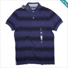 Tricou Polo TOMMY HILFIGER - Tricouri Barbati - 100% AUTENTIC - Tricou barbati Tommy Hilfiger, Marime: S, M, Culoare: Albastru, Maneca scurta, Bumbac