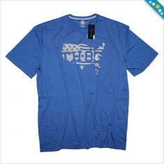 Tricou TOMMY HILFIGER - Tricouri Barbati - Tricou Bumbac - 100% AUTENTIC - Tricou barbati Tommy Hilfiger, Marime: XXL, Culoare: Albastru, Maneca scurta